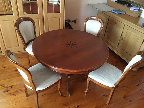 Okrągly stol z krzeslami