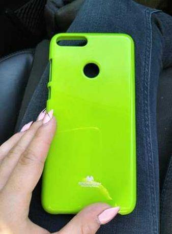 Huawei P smart neonowy żółty  case guma etui nowe okazja