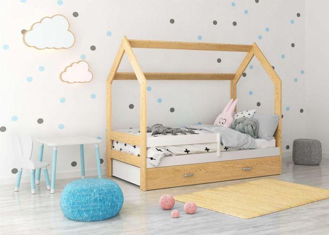 Meble Magnat Łóżeczko domek D3 dziecięce drewniane sosnowe 80x160