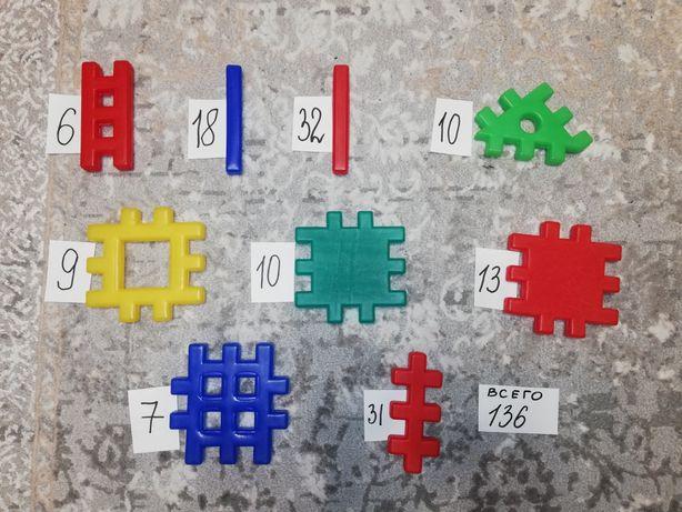 Конструктор 136 деталей для детей от 2 до 8 лет