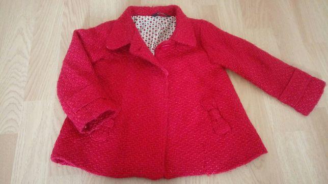 Śliczny czerwony płaszczyk 80 86 dziewczynka