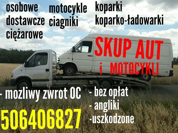 Skup Aut Samochodów Dostawczych motocykli koparki ladowarek Ciagnikow