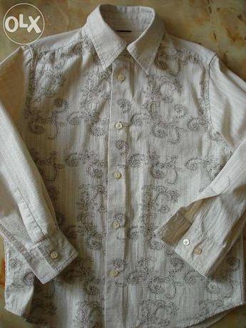 Рубашка для мальчика с вышивкой 100% хлопок