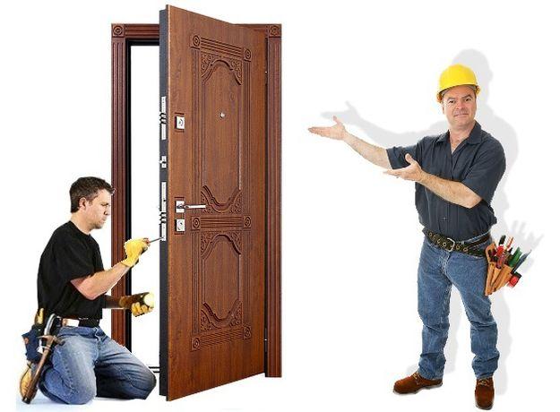 Установка входных дверей, балконов и окон
