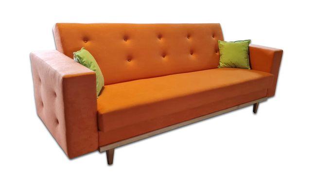 Kanapa, wersalka, sofa + drewno ozdobne z guzikami lub wciągami KOLORY