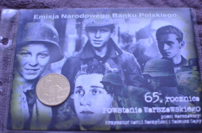 2zł Blister 65 rocznica Powstania Warszawskiego