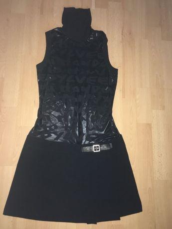 Piękna czarna sukienka Terranova S bez rękawów imprezka dyskoteka