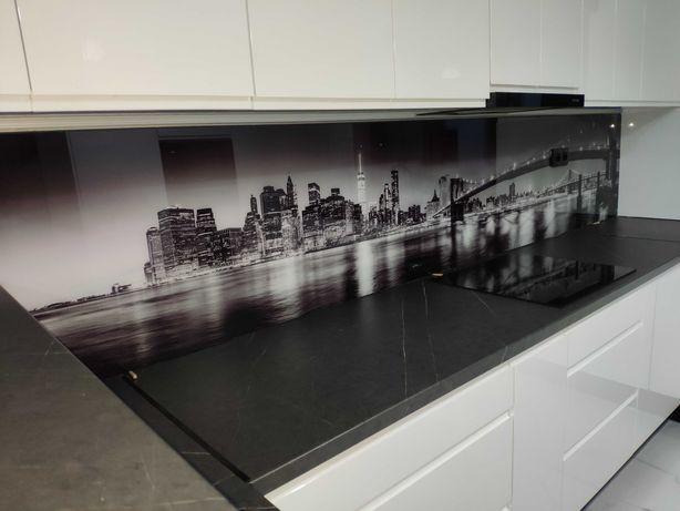 Lacobel, panele szklane, szkło do kuchni, szkło z grafiką