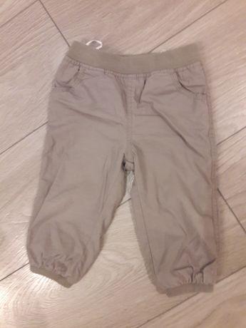 Spodnie C&A na podszewce r. 80 czapka hm body 5.10.15.