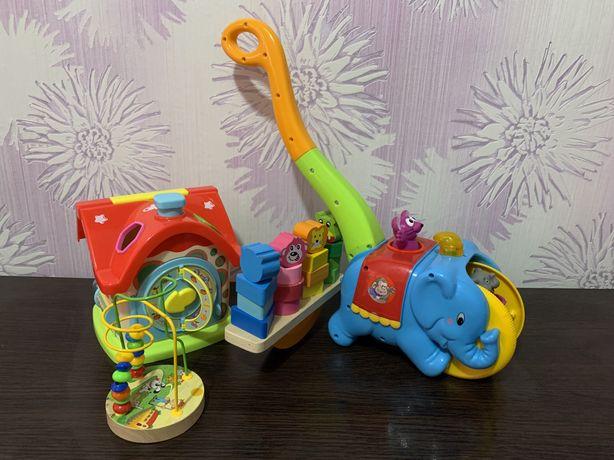 Набор развивающих игрушек, каталка, сортер, развивашки