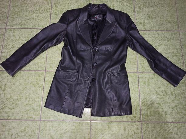Кожаний шкіряний піджак