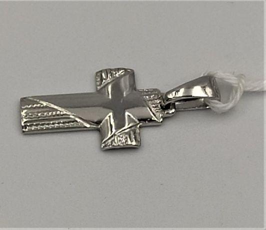 Krzyżyk srebrny zawieszka rodowany RS-69