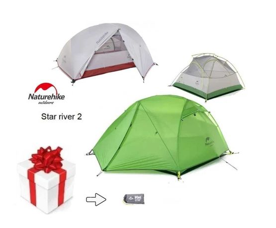 + Подарок Палатка Naturehike Star River 20D nylon /1.7кг/ Намет /Новая