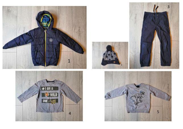 Zestaw zimowy dla chłopca - rozm.122. Markowe ubrania w stanie idealn.