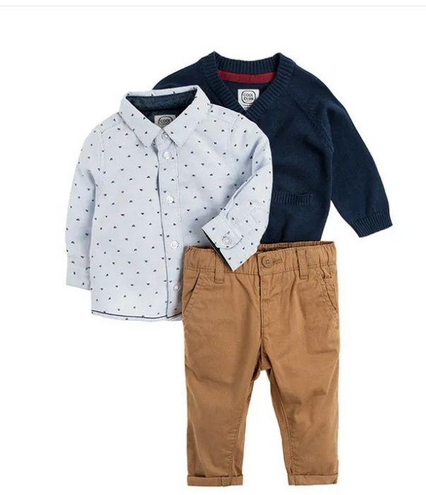 Cool club coolclub zestaw święta komunia koszula sweter spodnie r 80 Trzebiatów - image 1