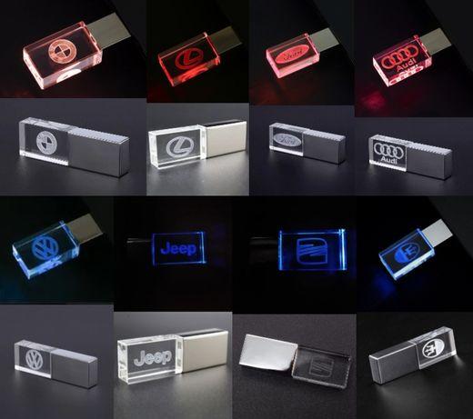 USB Флешка з підсвіткою логотипа вашого авто