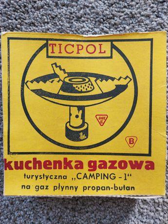 Kuchenka gazowa turystyczna Camping-1 jednopalnikowa z czasów PRL