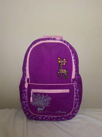Рюкзак школьный для девочки, фиолетовый, с ортопедической спинкой