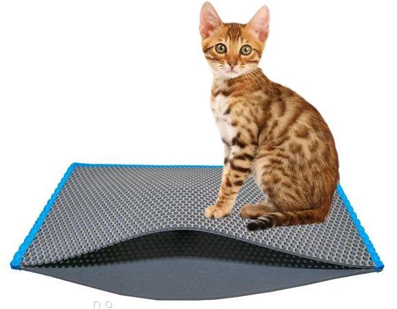 Коврик под лоток для кошек (коврик под кошачий туалет)