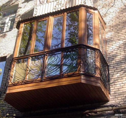 """Балконы под """"ключ"""", остекление, отделка, вынос, ремонт, утепление"""