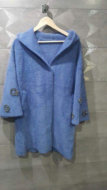 Płaszcz alpaka elegancka GG