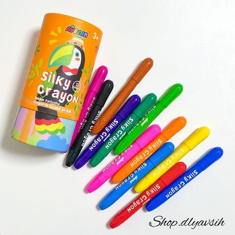 Смываемые восковые карандаши, мелки