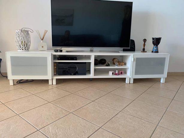 Movel de tv e mesa de apoio