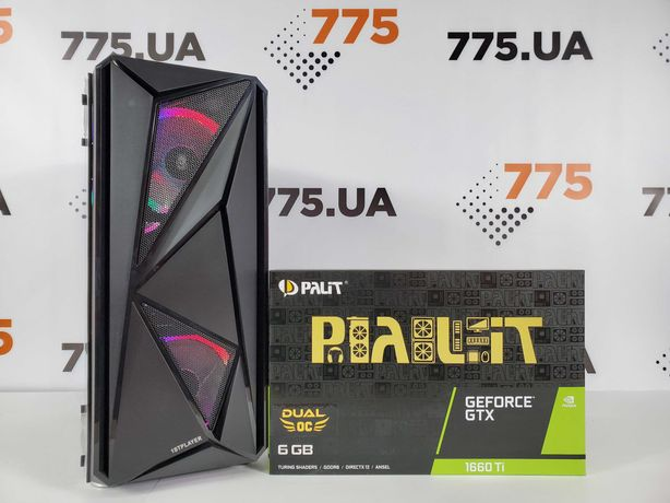 Игровой ПК, Core i5-6600K 3.9GHz, RAM 8ГБ, SSD 480ГБ, GTX1660Ti 6GB