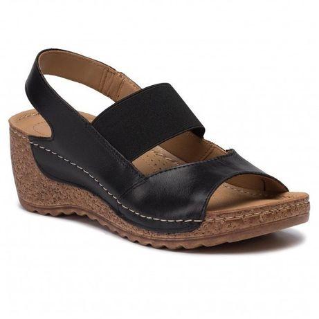LASOCKI czarne sandały skóra rozm.39 - NOWE