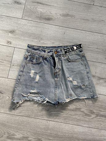 Продам джинсову юбку-шорти