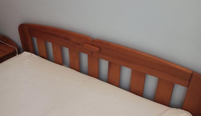 Łóżko sosnowe i szafki nocne, solidne