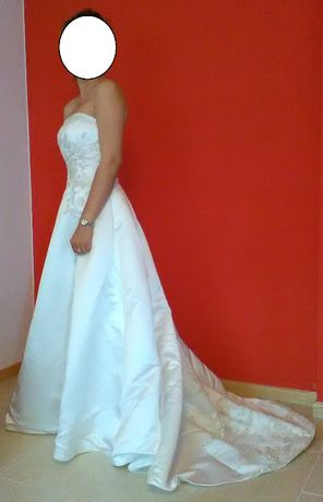 Suknia ślubna ecru + dodatki