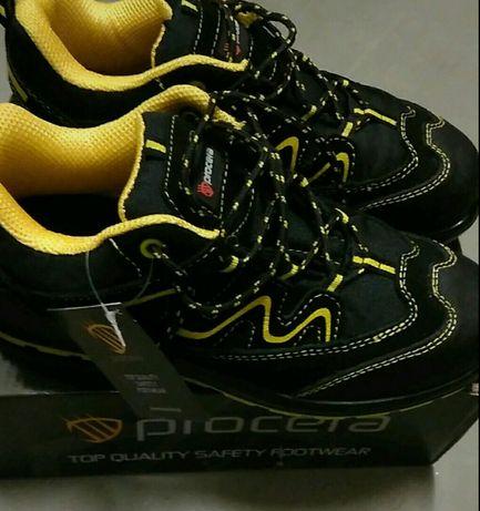 Procera street s1 skórzane buty ochronne robocze sportowe r.42