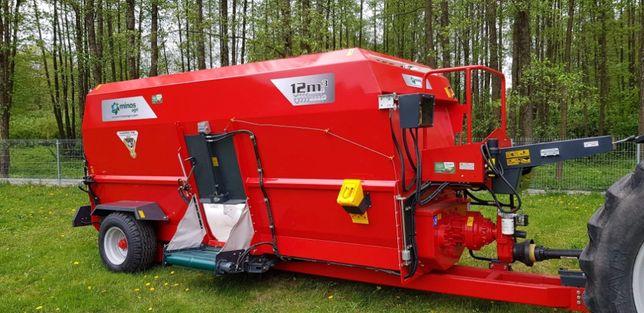 Promocja !!! Wóz paszowy dwa ślimaki poziome Minos Agri 12 m3 T-YYKM