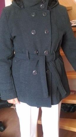 ciepły płaszcz wełniany H&M r.42/44 L/XL