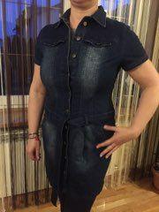 Sukienka jeans szmizjerka John Baner XL-XXL ,dżins granat