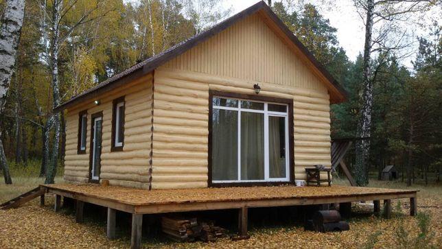 сдам котедж в сосновом лесу,озеро котеджный городок 68 км от Киева
