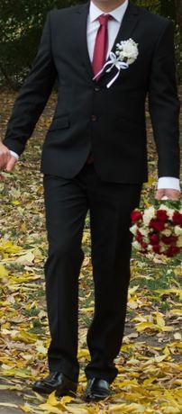 Мужской костюм, галстук, запонки, рубашка в подарок
