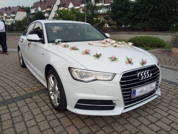 Audi A6 S-Line Promocja od400zł ! białe auto do ślubu limuzyna