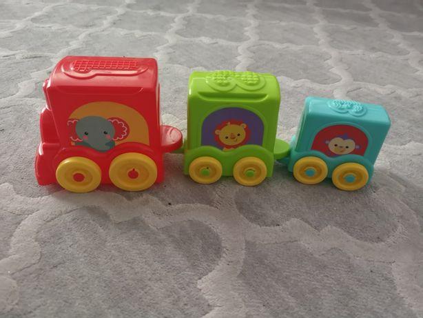 Pociąg wieża Fisher price zabawka dla malucha