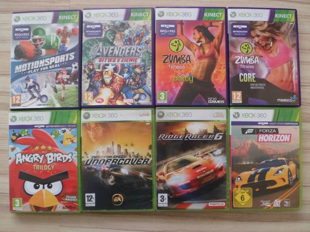 Gry Xbox 360-Zumba,Forza Horizon, Angry Birds,Ridge Racer 6,NFS,gra