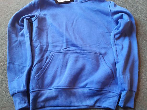 Bluza męska niebieska z kapturem