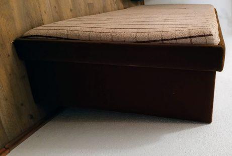 ŁÓŻKO 80x200 drewniany stelaż, regulowane, z dużym pojemnikiem