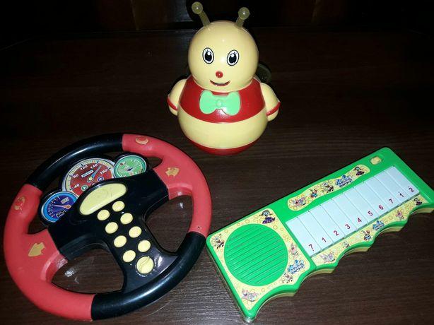 Музыкальные игрушки, руль,пианино..