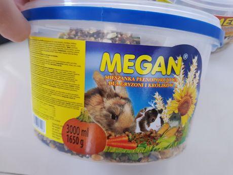 MEGAN 2 opakowania po 3kg karma i przysmak gryzonia