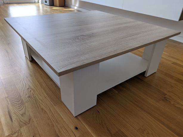 Stół stolik kawowy biały DĄB ława nowy