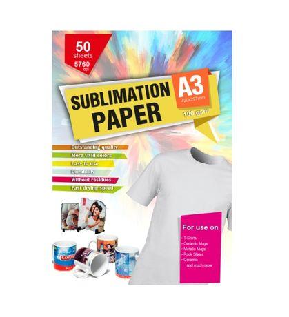 Papel Sublimação A3 e A4