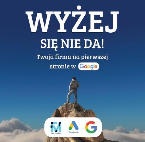 Twoja firma na pierwszej stronje w  Google.