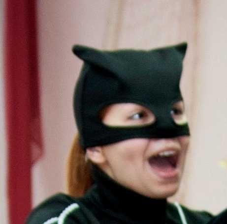 маска женщины-кошки для аниматора