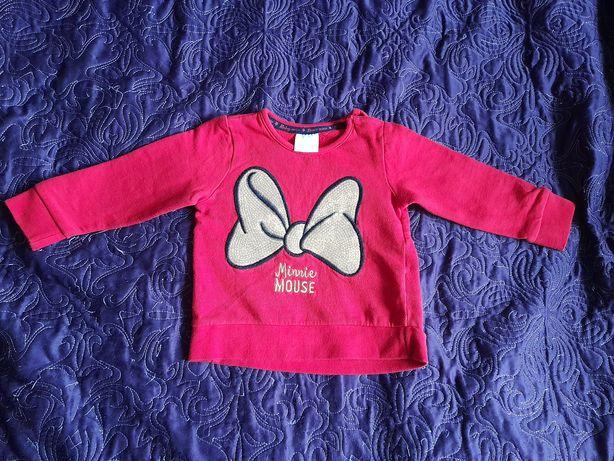 Czerwona bluza dla dziewczynki Minnie, rozmiar 80